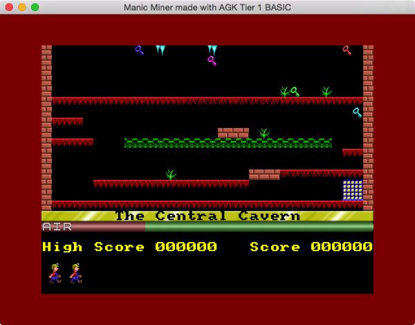 The Central Cavern, Rendering the Level Screen